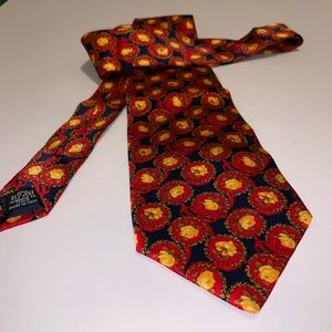 Yves Saint Laurent floral silk tie